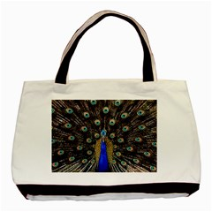 Peacock Basic Tote Bag (two Sides) by BangZart