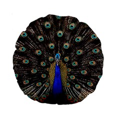 Peacock Standard 15  Premium Round Cushions by BangZart