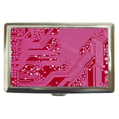 Pink Circuit Pattern Cigarette Money Cases by BangZart