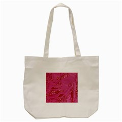 Pink Circuit Pattern Tote Bag (cream)