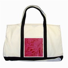 Pink Circuit Pattern Two Tone Tote Bag by BangZart
