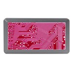Pink Circuit Pattern Memory Card Reader (Mini) Front