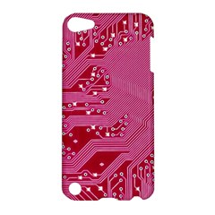 Pink Circuit Pattern Apple Ipod Touch 5 Hardshell Case by BangZart