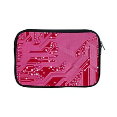 Pink Circuit Pattern Apple Ipad Mini Zipper Cases by BangZart