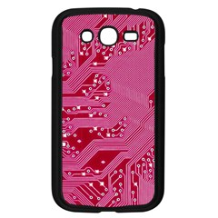 Pink Circuit Pattern Samsung Galaxy Grand Duos I9082 Case (black) by BangZart