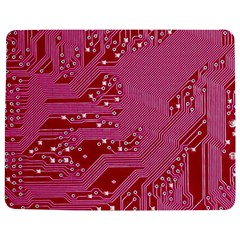 Pink Circuit Pattern Jigsaw Puzzle Photo Stand (rectangular)
