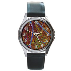 Neurobiology Round Metal Watch
