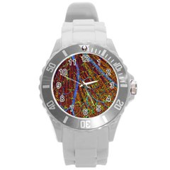 Neurobiology Round Plastic Sport Watch (l) by BangZart