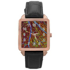 Neurobiology Rose Gold Leather Watch