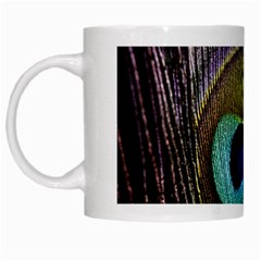 Peacock Feather White Mugs by BangZart