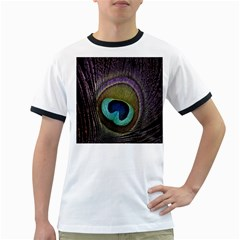 Peacock Feather Ringer T Shirts
