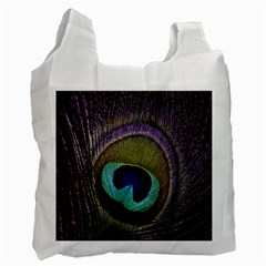 Peacock Feather Recycle Bag (one Side) by BangZart