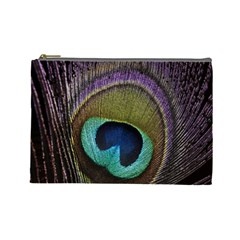 Peacock Feather Cosmetic Bag (large)  by BangZart