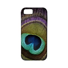 Peacock Feather Apple Iphone 5 Classic Hardshell Case (pc+silicone) by BangZart