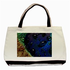 Peacock Feather Retina Mac Basic Tote Bag by BangZart