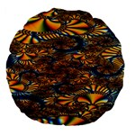 Pattern Bright Large 18  Premium Flano Round Cushions Back