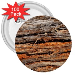 Natural Wood Texture 3  Buttons (100 Pack)