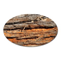 Natural Wood Texture Oval Magnet