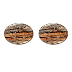 Natural Wood Texture Cufflinks (oval) by BangZart