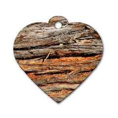 Natural Wood Texture Dog Tag Heart (two Sides) by BangZart