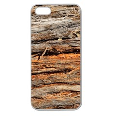 Natural Wood Texture Apple Seamless Iphone 5 Case (clear) by BangZart