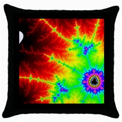 Misc Fractals Throw Pillow Case (black) by BangZart