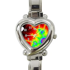 Misc Fractals Heart Italian Charm Watch by BangZart