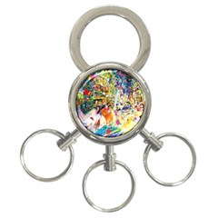 Multicolor Anime Colors Colorful 3 Ring Key Chains by BangZart