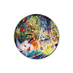 Multicolor Anime Colors Colorful Rubber Coaster (round)  by BangZart
