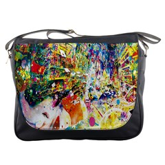Multicolor Anime Colors Colorful Messenger Bags by BangZart