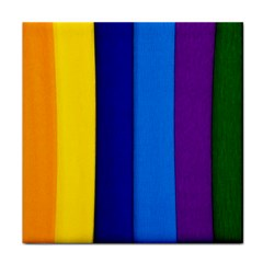Paper Rainbow Colorful Colors Tile Coasters by paulaoliveiradesign