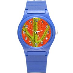 Nature Leaves Round Plastic Sport Watch (s)