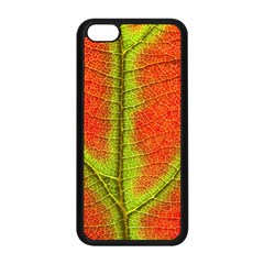 Nature Leaves Apple Iphone 5c Seamless Case (black) by BangZart
