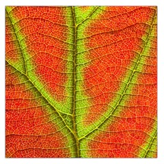 Nature Leaves Large Satin Scarf (square) by BangZart