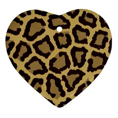 Leopard Ornament (heart) by BangZart