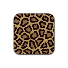 Leopard Rubber Coaster (square)  by BangZart