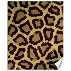 Leopard Canvas 16  X 20   by BangZart