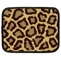 Leopard Netbook Case (large) by BangZart