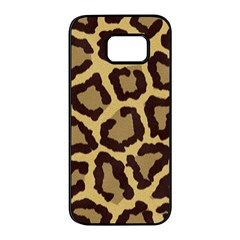Leopard Samsung Galaxy S7 Edge Black Seamless Case by BangZart