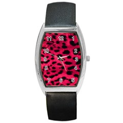 Leopard Skin Barrel Style Metal Watch