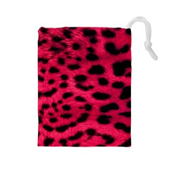 Leopard Skin Drawstring Pouches (large)