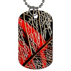 Leaf Pattern Dog Tag (two Sides) by BangZart