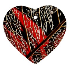 Leaf Pattern Heart Ornament (two Sides)