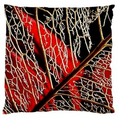 Leaf Pattern Large Cushion Case (two Sides) by BangZart