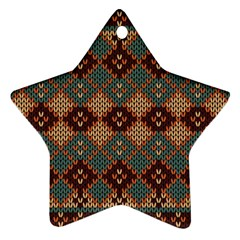 Knitted Pattern Ornament (star) by BangZart