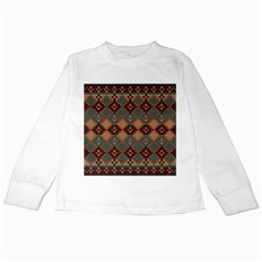 Knitted Pattern Kids Long Sleeve T Shirts