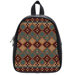 Knitted Pattern School Bags (Small)  Front