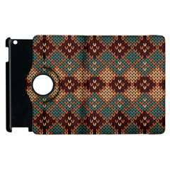 Knitted Pattern Apple Ipad 2 Flip 360 Case by BangZart