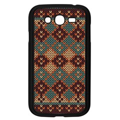 Knitted Pattern Samsung Galaxy Grand Duos I9082 Case (black) by BangZart