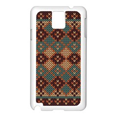 Knitted Pattern Samsung Galaxy Note 3 N9005 Case (white) by BangZart